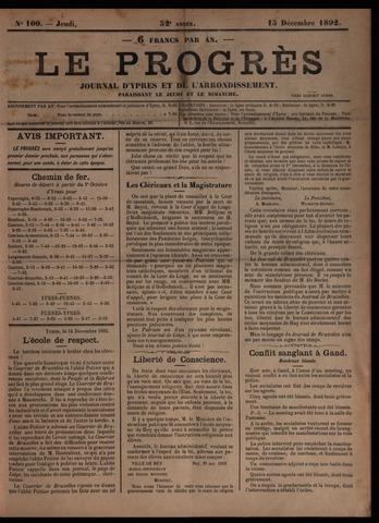 Le Progrès (1841-1914) 1892-12-15