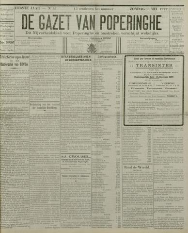 De Gazet van Poperinghe  (1921-1940) 1922-05-07