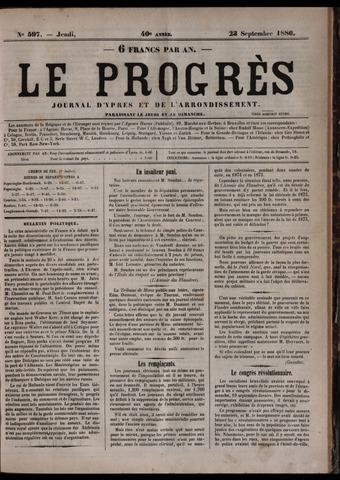 Le Progrès (1841-1914) 1880-09-22