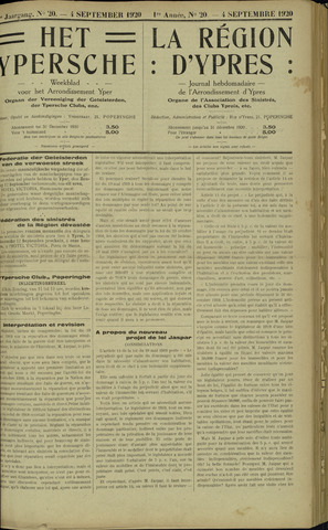 Het Ypersche (1925 - 1929) 1920-09-04