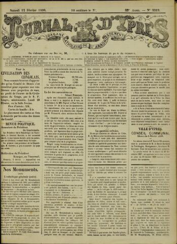 Journal d'Ypres (1874 - 1913) 1898-02-12