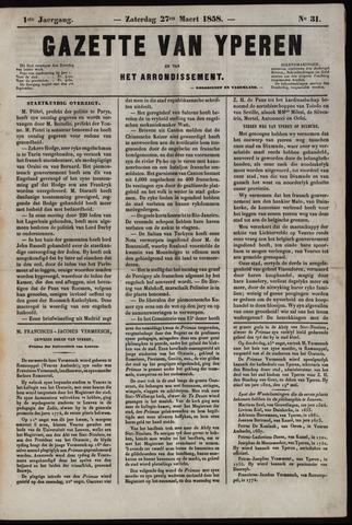 Gazette van Yperen (1857-1862) 1858-03-27