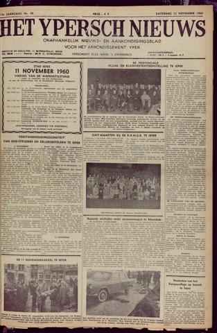 Het Ypersch nieuws (1929-1971) 1960-11-12
