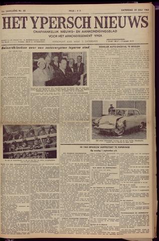 Het Ypersch nieuws (1929-1971) 1963-07-20