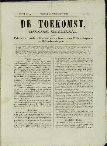 De Toekomst (1862 - 1894) 1863-02-15