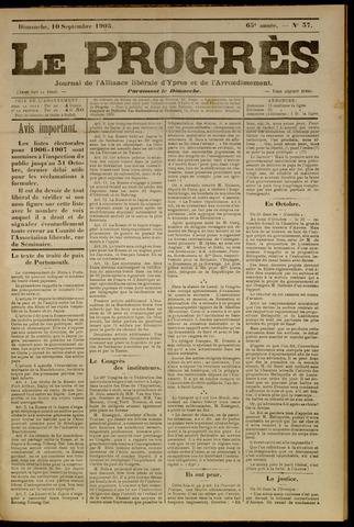 Le Progrès (1841-1914) 1905-09-10