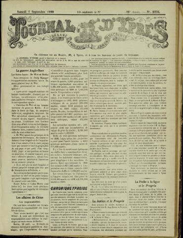Journal d'Ypres (1874 - 1913) 1900-09-01