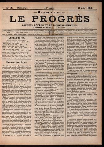 Le Progrès (1841-1914) 1888-06-24
