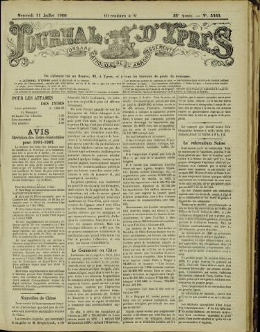 Journal d'Ypres (1874 - 1913) 1900-07-11