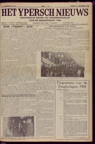 Het Ypersch nieuws (1929-1971) 1968-09-13