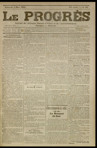 Le Progrès (1841-1914) 1905-03-05