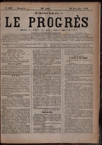 Le Progrès (1841-1914) 1880-11-28