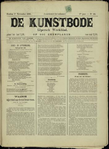 De Kunstbode (1880 - 1883) 1881-11-05