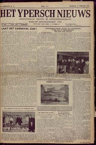 Het Ypersch nieuws (1929-1971) 1960-02-27