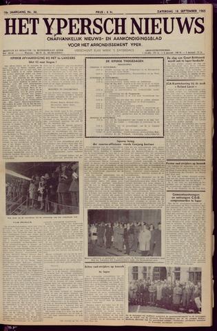 Het Ypersch nieuws (1929-1971) 1965-09-18