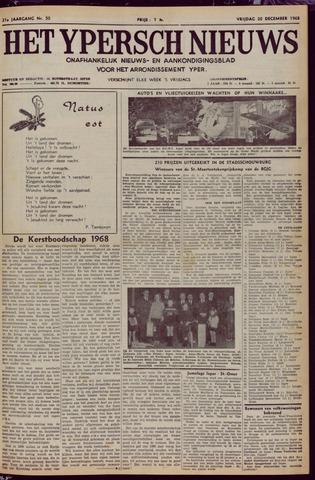 Het Ypersch nieuws (1929-1971) 1968-12-20