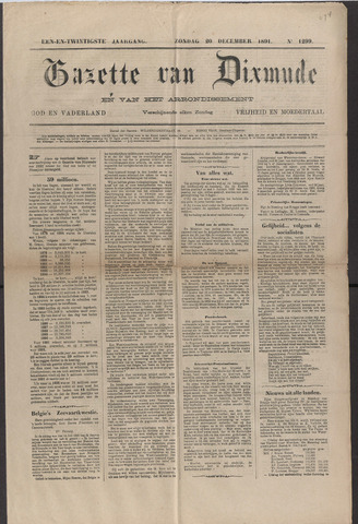 Gazette van Dixmude 1891-02-20