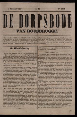 De Dorpsbode van Rousbrugge (1856-1857 en 1860-1862) 1857-02-24