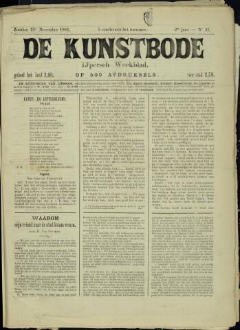 De Kunstbode (1880 - 1883) 1881-12-25