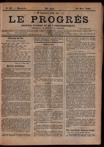 Le Progrès (1841-1914) 1888-03-18