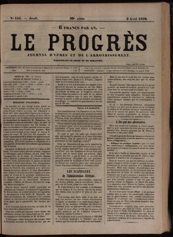 Le Progrès (1841-1914) 1879-04-03