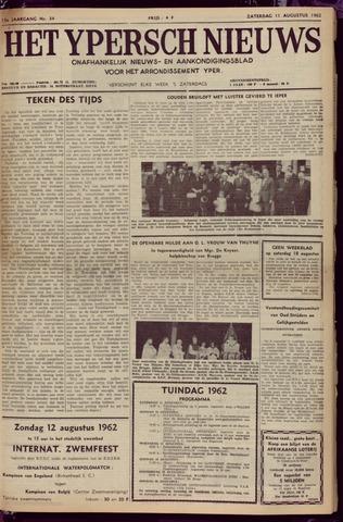 Het Ypersch nieuws (1929-1971) 1962-08-11