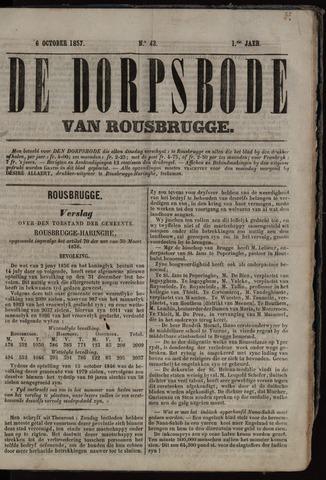 De Dorpsbode van Rousbrugge (1856-1857 en 1860-1862) 1857-10-06
