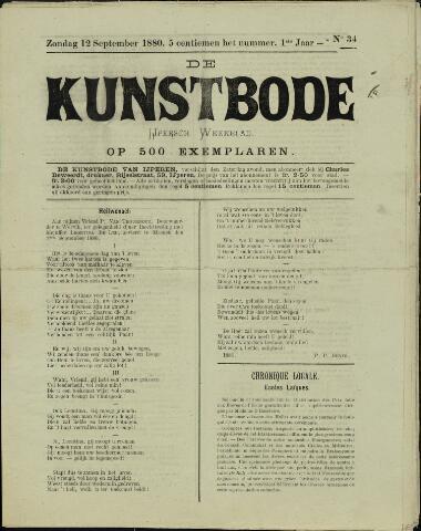 De Kunstbode (1880 - 1883) 1880-09-12