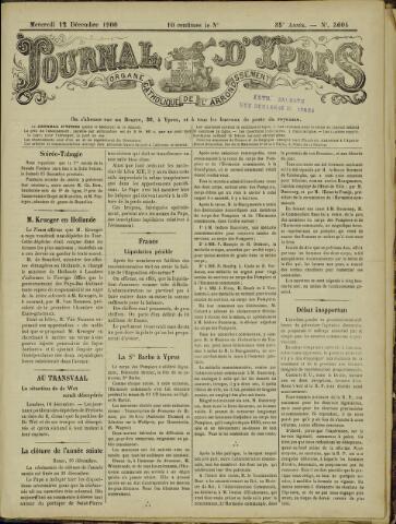 Journal d'Ypres (1874 - 1913) 1900-12-12