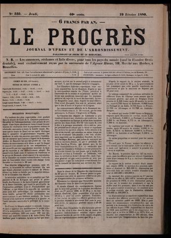 Le Progrès (1841-1914) 1880-02-19