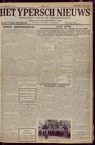 Het Ypersch nieuws (1929-1971) 1960-07-02
