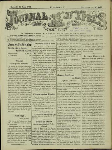 Journal d'Ypres (1874 - 1913) 1899-03-22