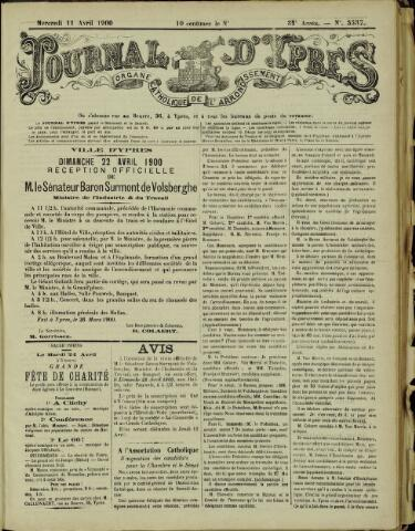 Journal d'Ypres (1874 - 1913) 1900-04-11