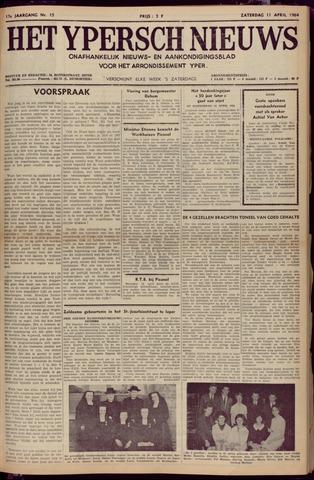 Het Ypersch nieuws (1929-1971) 1964-04-11