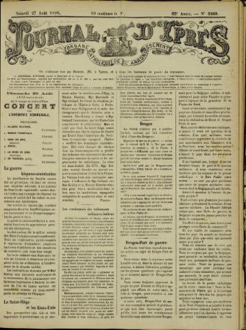 Journal d'Ypres (1874 - 1913) 1898-08-27
