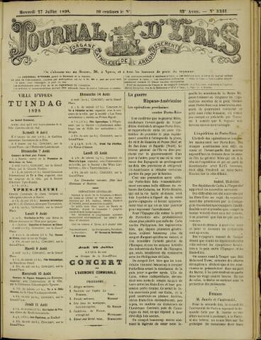 Journal d'Ypres (1874 - 1913) 1898-07-27