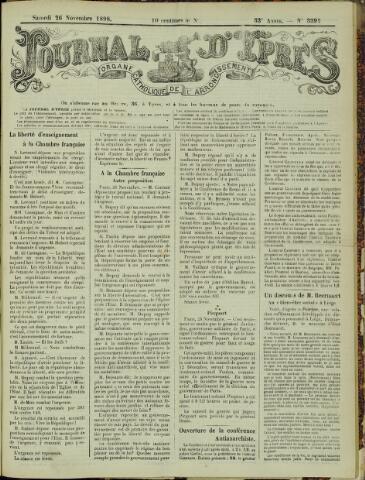 Journal d'Ypres (1874 - 1913) 1898-11-26