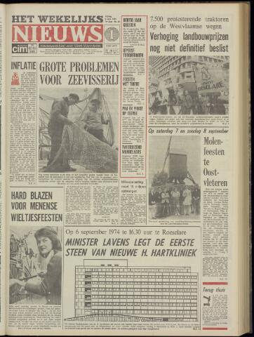 Het Wekelijks Nieuws (1946-1990) 1974-09-06