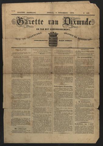 Gazette van Dixmude 1879-11-09