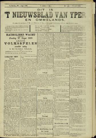 Nieuwsblad van Yperen en van het Arrondissement (1872 - 1912) 1899-08-26