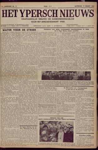 Het Ypersch nieuws (1929-1971) 1964-03-14