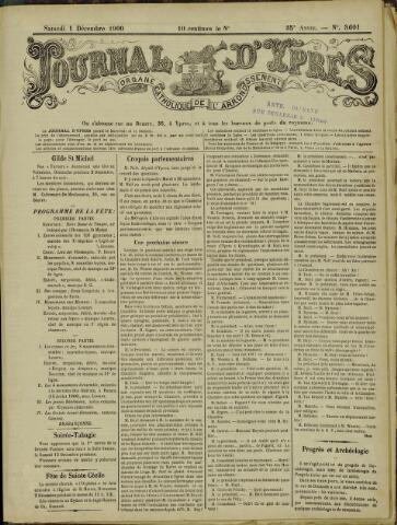 Journal d'Ypres (1874 - 1913) 1900-12-01