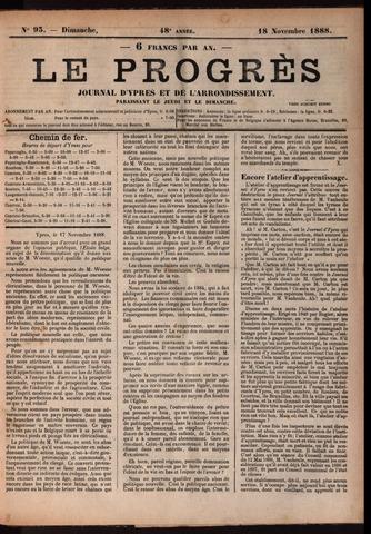 Le Progrès (1841-1914) 1888-11-18