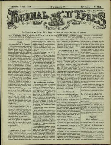 Journal d'Ypres (1874 - 1913) 1899-06-07