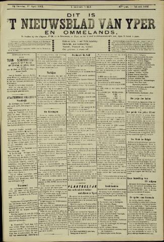Nieuwsblad van Yperen en van het Arrondissement (1872 - 1912) 1902-04-05