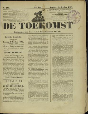 De Toekomst (1862 - 1894) 1892-10-02