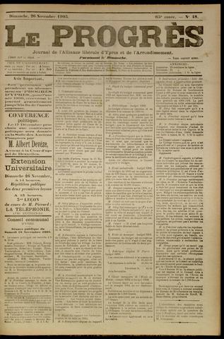 Le Progrès (1841-1914) 1905-11-26