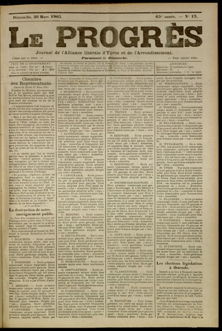 Le Progrès (1841-1914) 1905-03-26
