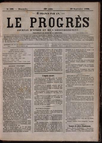 Le Progrès (1841-1914) 1880-09-19