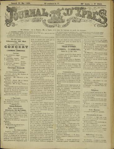 Journal d'Ypres (1874 - 1913) 1898-05-21